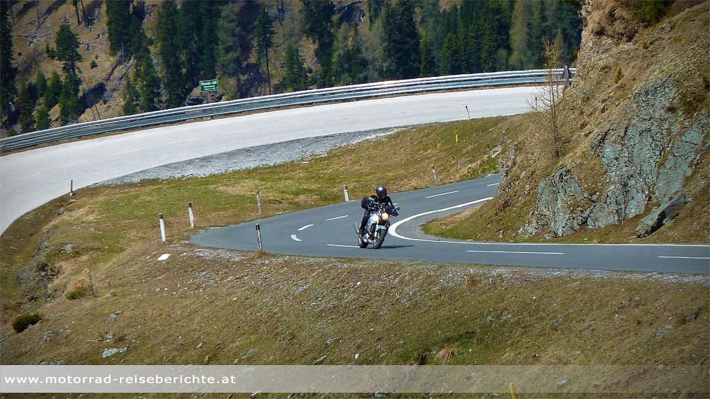 Nockalmstraße Motorradfahrer
