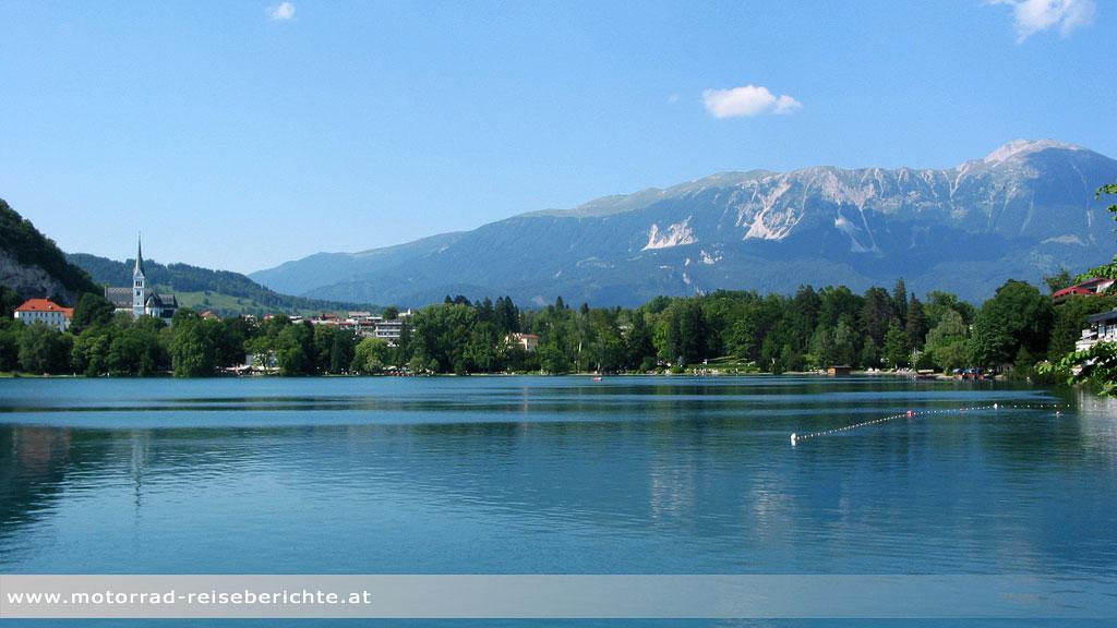 Motorrad Slowenien See Bled