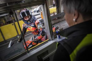 Motorrad Rennfahrer Mautstelle Gleinalmtunnel